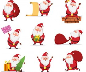 Santa with christmsa illustration vector