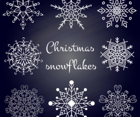 Set of christmas snowflake illustration vector 01