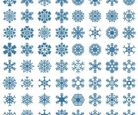 Set of christmas snowflake illustration vector 02