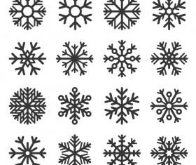 Set of christmas snowflake illustration vector 04