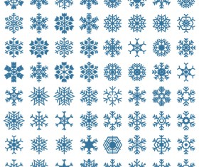 Set of christmas snowflake illustration vector 05