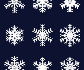 Set of christmas snowflake illustration vector 06