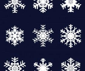 Set of christmas snowflake illustration vector 06