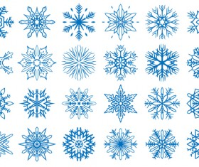 Set of christmas snowflake illustration vector 08
