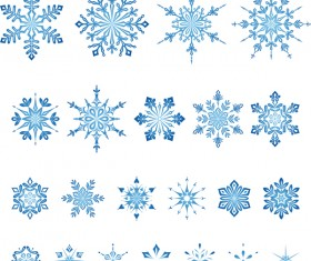 Set of christmas snowflake illustration vector 09
