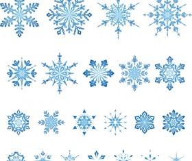 Set of christmas snowflake illustration vector 09