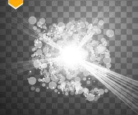 Shining light effects illustration vector 03