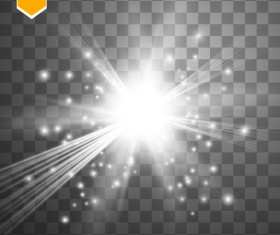 Shining light effects illustration vector 04