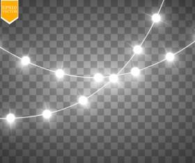 Shining light effects illustration vector 06