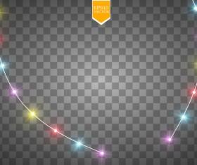 Shining light effects illustration vector 09