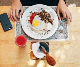 Simple Western breakfast Stock Photo