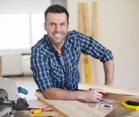 Smiling carpentry Stock Photo 01
