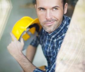 Smiling carpentry Stock Photo 02