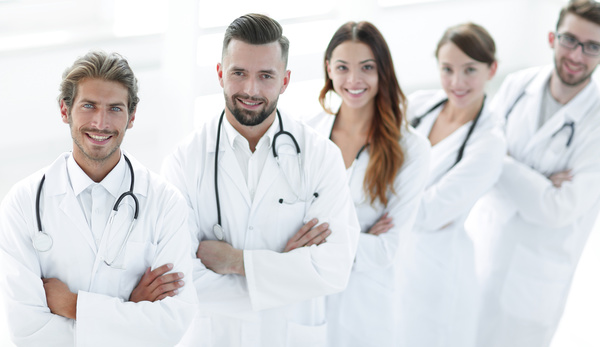 Smiling doctors Stock Photo