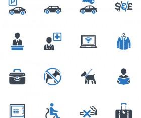 Social public icons set