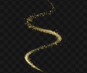 Sparkling golden particles wavy illustration vector 05