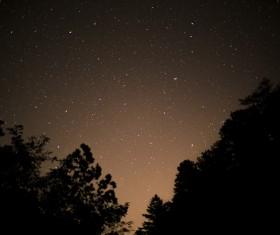 Sparkling starry sky at night Stock Photo