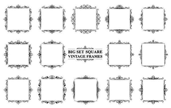 Square vintage frames ...