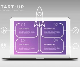 Start up infographic template vector