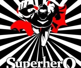Superman on camera poster vector