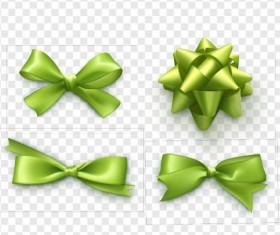 Tender green bows illustration vector