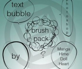 Text bubbles Photoshop Brushes