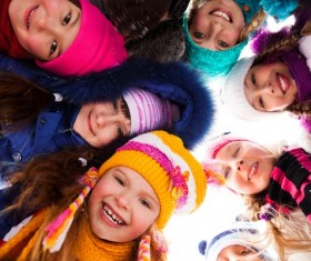 The children around in a circle Stock Photo 02