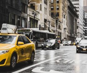 The endless stream of urban vehicles Stock Photo