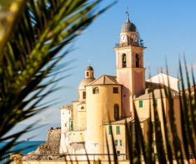 Tourist paradise seaside town Camogli Stock Photo 05
