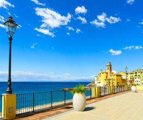 Tourist paradise seaside town Camogli Stock Photo 09