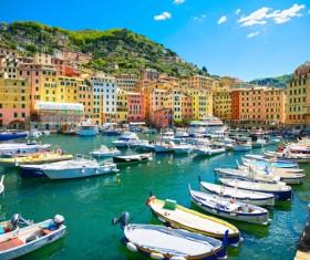 Tourist paradise seaside town Camogli Stock Photo 10