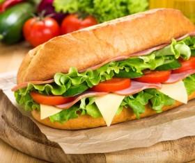Vegetable sausage sandwich Stock Photo