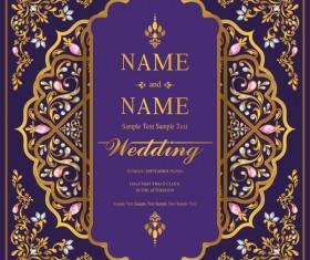 Vintage invitation card template luxury vector 06