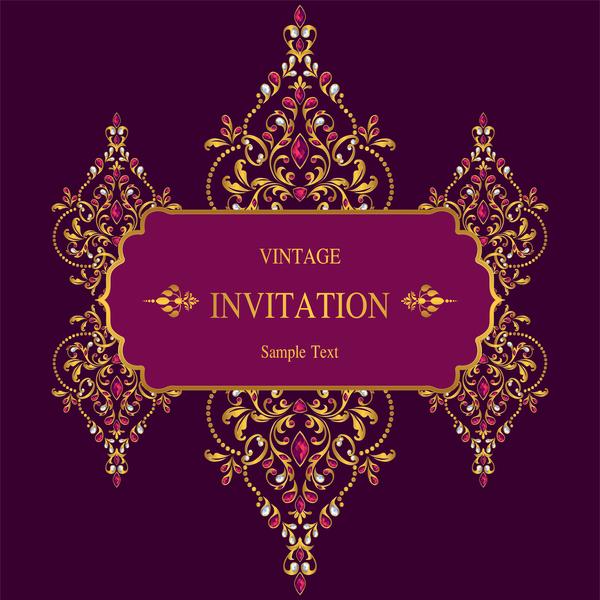 Vintage invitation card template luxury vector 12 free download vintage invitation card template luxury vector 12 stopboris Images