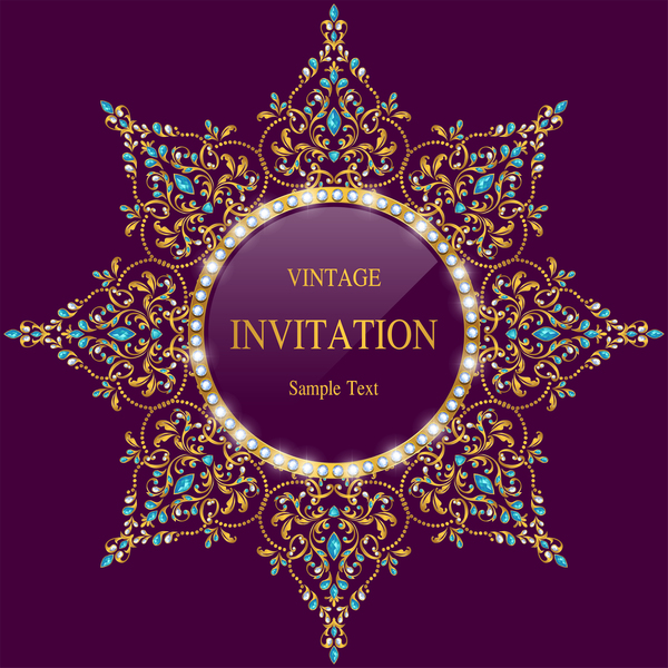Vintage invitation card template luxury vector 13 vector card vintage invitation card template luxury vector 13 stopboris Image collections