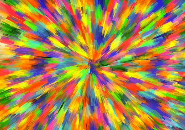 Watercolor Explosive Textures Stock Photo 02