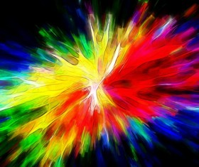 Watercolor Explosive Textures Stock Photo 03