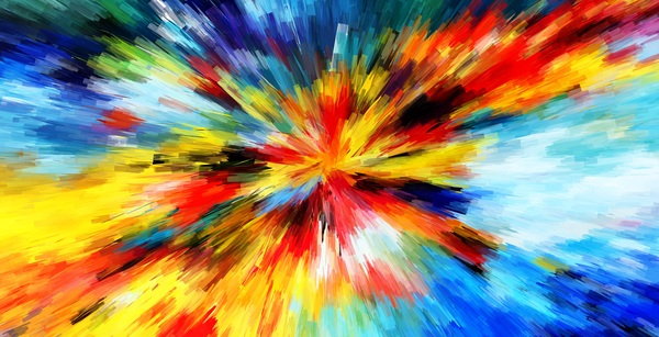 Watercolor Explosive Textures Stock Photo 05