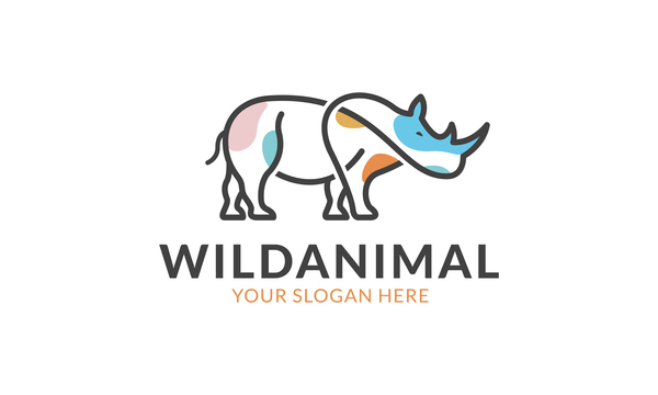 Wild animal logo vector