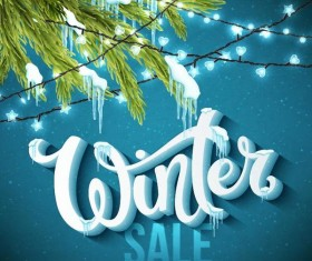 Winter sale background creative vector