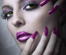 Woman fashion makeup Stock Photo