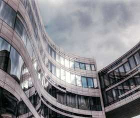 architecture with curved glass design Stock Photo