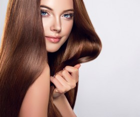 beautiful long hair girl Stock Photo 02
