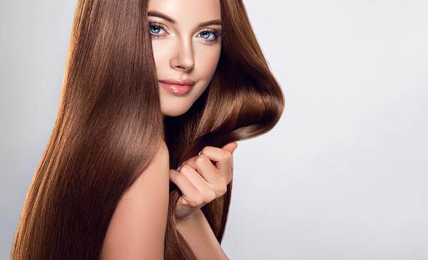beautiful long hair girl Stock Photo 02