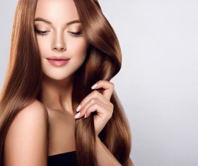 beautiful long hair girl Stock Photo 03
