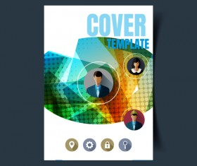 businessman flyer with brochure cover template vector