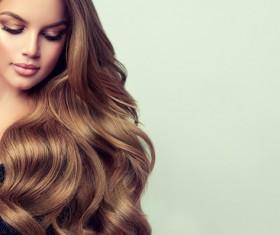 fashionable hairstyles and stylish make-up Stock Photo
