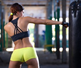 girl who practices boxing Stock Photo 02