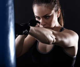 girl who practices boxing Stock Photo 04