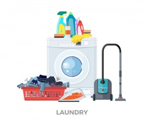laundry design elements vector